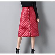 οι γυναίκες που βγαίνουν μίνι φούστες μολύβι - συμπαγές χρώμα