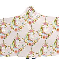billiga Filtar och plädar-Flanell, Reaktiv Tryck Tecknat Polyester filtar