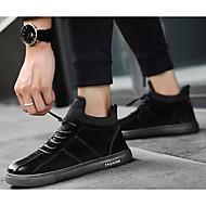 cheap Men's Sneakers-Men's Comfort Shoes Suede Spring &  Fall Sneakers Black / Gray / Khaki