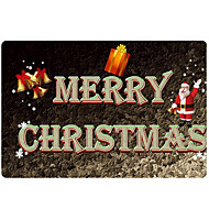 Χαμηλού Κόστους χαλιά-Χαλάκια Εξώπορτας Χριστούγεννα 100γρ / τμ Πολυεστέρας Ελαστικό Πλεκτό, Ορθογώνιο Ανώτερη ποιότητα Χαλί