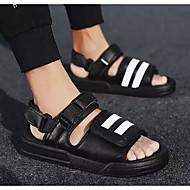 baratos Sapatos Masculinos-Homens Sapatos Confortáveis Couro Ecológico Verão Sandálias Branco / Preto