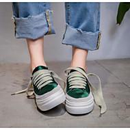 baratos Sapatos Femininos-Mulheres Sapatos Confortáveis Cetim / Seda Primavera & Outono Tênis Creepers Branco / Verde / Rosa claro