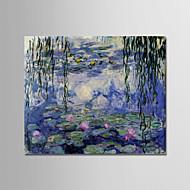 billiga Berömda målningar-Hang målad oljemålning HANDMÅLAD - Känd / Blommig / Botanisk Moderna Duk