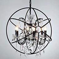 billige Bestelgere-6-Light Globe Omgivelseslys Malte Finishes Metall Krystall 110-120V / 220-240V Pære Inkludert / E12 / E14
