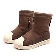 baratos Sapatos de Menino-Para Meninos / Para Meninas Sapatos Camurça Outono & inverno Botas da Moda Botas Ziper para Infantil / Bébé Preto / Amêndoa / Botas Cano Médio