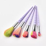 5 Parça Makyaj fırçaları Profesyonel Allık Fırçası / Far Fırçası / Dudak Fırçası Naylon fiber Tam Kaplama