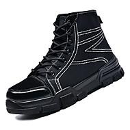 baratos Sapatos Masculinos-Homens Coturnos Jeans / Couro Ecológico Outono Casual Botas Não escorregar Botas Cano Médio Preto / Bege / Marron