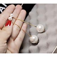 Dame dingle øreringe geometrisk Damer Mode Elegant Imiteret Perle Øreringe Smykker Guld / Sølv Til Stævnemøde Arbejde 1 Par