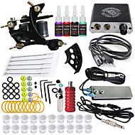 billige Tatoveringssett for nybegynnere-DRAGONHAWK Tattoo Machine Startkit - 1 pcs tattoo maskiner med 4 x 5 ml tatovering blekk, Profesjonell, Verneutstyr, Enkel å installere Legering Mini strømforsyning No case 1 x støpejern