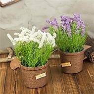 billige Kunstige blomster-Kunstige blomster 1 Gren Klassisk / Singel Rustikk / Enkel Stil Lyseblå Bordblomst