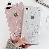 billiga Mobil cases & Skärmskydd-fodral Till Apple iPhone X / iPhone XS Stötsäker / Genomskinlig Skal Hjärta / Tecknat Mjukt TPU för iPhone XS / iPhone X / iPhone 8 Plus