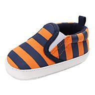 baratos Sapatos de Menina-Para Meninos / Para Meninas Sapatos Lona Primavera & Outono / Inverno Conforto / Primeiros Passos Botas Elástico para Bebê Laranja / Azul