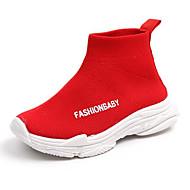 baratos Sapatos de Menina-Para Meninos / Para Meninas Sapatos Com Transparência Outono & inverno Conforto Botas para Infantil / Bébé Preto / Cinzento / Vermelho