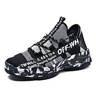 สำหรับผู้ชาย รองเท้าสบาย ๆ ตารางไขว้ / Synthetics ฤดูร้อนฤดูใบไม้ผลิ ไม่เป็นทางการ รองเท้าผ้าใบ ระบายอากาศ ขาว / สีดำ / สีเขียว