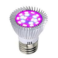 1pc 8 W 640 lm E26 / E27 Büyüyen ampul 18 LED Boncuklar SMD 5730 Tam Spektrum Kırmızı / Mavi 85-265 V