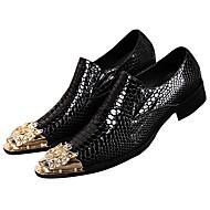 baratos Sapatos de Tamanho Pequeno-Homens Sapatos formais Pele Napa Outono Formais Mocassins e Slip-Ons Não escorregar Preto / Festas & Noite
