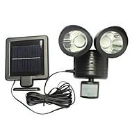 billige Utendørs Lampeskjermer-1pc 2 W Solar Wall Light Vanntett / Solar / Infrarød sensor Hvit 5.5 V Utendørsbelysning / Courtyard / Have 22 LED perler