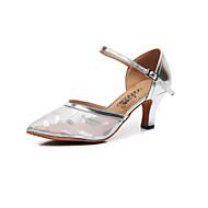 billige Moderne sko-Dame Moderne sko Netting Sandaler Spenne Slim High Heel Kan spesialtilpasses Dansesko Hvit / Svart