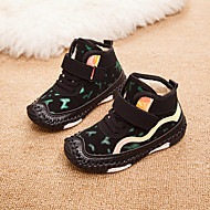 baratos Sapatos de Menino-Para Meninos / Para Meninas Sapatos Couro Ecológico Primavera & Outono / Primavera Conforto Tênis Corrida / Caminhada Cadarço / Combinação / Velcro para Infantil Preto / Vermelho / Verde