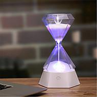 billige Lamper-1pc Diamond Timeglass LED Night Light / Nursery Night Light Fargerik Usb For barn / Oppladbar / Berør sensoren 5 V