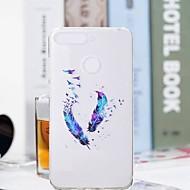 billiga Mobil cases & Skärmskydd-fodral Till Huawei Honor 7A / Honor 7C(Enjoy 8) Genomskinlig / Mönster Skal Fjädrar Mjukt TPU för Huawei Honor 10 / Honor 9 / Huawei Honor 9 Lite