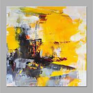 billiga Blom-/växtmålningar-Hang målad oljemålning HANDMÅLAD - Abstrakt / Blommig / Botanisk Moderna Duk