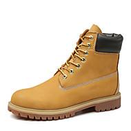 baratos Sapatos Masculinos-Homens Coturnos Pele Napa Inverno Esportivo / Clássico Botas Aventura Manter Quente Botas Curtas / Ankle Preto / Amarelo