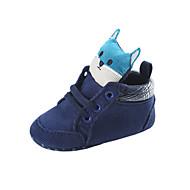 baratos Sapatos de Menino-Para Meninos / Para Meninas Sapatos Cetim Primavera & Outono / Inverno Conforto / Primeiros Passos Botas Cadarço para Bebê Branco / Azul