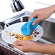 tanie Artykuły kuchenne do czyszcznia-Kuchnia Środki czystości Krzem Szczotka i ścierka do czyszczenia Prosty / Wielofunkcyjne 1 opakowanie / 1 szt.