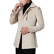 Herre Ensfarvet Aktiv / Basale Pea coats