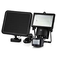 billige Utendørs Lampeskjermer-YWXLIGHT® 1pc 6 W Solar Wall Light Vanntett / Solar / Infrarød sensor Kjølig hvit 3.7 V Utendørsbelysning / Courtyard / Have 60 LED perler