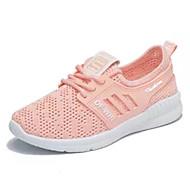 abordables Chaussures de Course Femme-Femme Chaussures de confort Maille Eté Chaussures d'Athlétisme Course à Pied Talon Plat Blanc / Noir / Rose