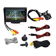 cheap Car Rear View Camera-BYNCG WG4.3T-4LED 4.3 inch TFT-LCD 480TVL 480p 1/4 inch color CMOS Wired 120 Degree 1 pcs 120 ° 4.3 inch Rear View Camera / Car Reversing Monitor / Car Rear View Kit Waterproof / LED indicator