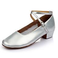 billige Kustomiserte dansesko-Dame Moderne sko Lakklær Sandaler / Høye hæler Tvinning Tykk hæl Kan spesialtilpasses Dansesko Sølv