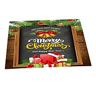 Χαμηλού Κόστους χαλιά-Χαλάκια Εξώπορτας Χριστούγεννα 100γρ / τμ Πολυεστέρας Ελαστικό Πλεκτό, Τετράγωνο Ανώτερη ποιότητα Χαλί