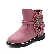 baratos Sapatos de Menina-Para Meninas Sapatos Couro Sintético / Couro Ecológico Primavera Verão Conforto / Botas da Moda Botas Caminhada Pedrarias / Miçangas / Ziper para Infantil Roxo Claro / Vermelho / Vinho