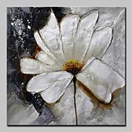 billiga Abstrakta målningar-Hang målad oljemålning HANDMÅLAD - Abstrakt / Blommig / Botanisk Moderna Inkludera innerram / Sträckt kanfas