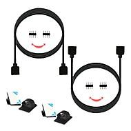 billige belysning Tilbehør-zdm® 2 stk 100 cm smd 5050 / smd 2835/3528 smd stripe lys tilbehør / led stripe forlengelse linje elektrisk kabel plast& metall for rgb led strip lys