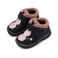 baratos Sapatos de Menino-Para Meninos / Para Meninas Sapatos Couro Sintético / Couro Ecológico Primavera Verão Conforto / Botas da Moda Botas Caminhada Combinação / Velcro para Infantil / Bébé Preto / Vermelho / Rosa claro