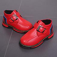 baratos Sapatos de Menina-Para Meninas Sapatos Couro Ecológico Primavera & Outono / Primavera Verão Conforto / Botas da Moda Botas Caminhada Presilha / Combinação para Infantil Preto / Amarelo / Vermelho