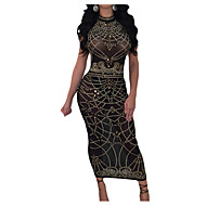 Women's Going out Birthday Maxi Slim Sheath Dress High Waist Crew Neck Red Army Green Royal Blue M L XL / Sexy