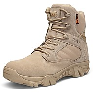 baratos Sapatos de Tamanho Pequeno-Homens Coturnos Lona / Sintéticos Inverno Esportivo / Vintage Botas Manter Quente Botas Cano Médio Preto / Bege