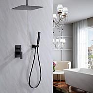 ברז למקלחת - עכשווי גימור צבוע מערכת למקלחת שסתום קרמי Bath Shower Mixer Taps / Brass / חורים שלוש ידית אחת