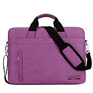 billige Computertasker-Nylon Laptoptaske Lynlås Lilla / Mørkegrå / Kakifarvet