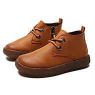 baratos Sapatos de Menino-Para Meninos Sapatos Couro Inverno Coturnos Botas Ziper para Infantil Preto / Marron