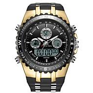 Pánské Sportovní hodinky Digitální hodinky japonština Japonské Quartz Silikon Černá 30 m Voděodolné Kalendář Svítící Analog - Digitál Módní - Černá a zlatá stříbrná / černá