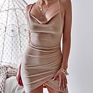 62bef9e1dbf8 olcso Csoportos vásárlás-Női Elegáns Vékony Nadrág - Egyszínű Nyitott hátú  Magas derék Ezüst /