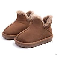 baratos Sapatos de Menino-Para Meninos / Para Meninas Sapatos Pele Inverno Botas de Neve Botas para Bébé Preto / Rosa claro / Khaki / Botas Curtas / Ankle
