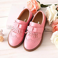 cheap Flower Girl Shoes-Girls' Shoes Cowhide Spring &  Fall Comfort / Flower Girl Shoes Sneakers Tassel for Kids Black / Red / Pink