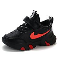 baratos Sapatos de Menino-Para Meninos / Para Meninas Sapatos Couro Sintético Primavera & Outono Conforto Tênis Caminhada Cadarço / Velcro para Infantil / Adolescente Branco / Vermelho / Rosa claro